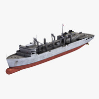 usns supply t-aoe-6 3d model
