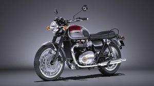 3d model triumph bonneville t120