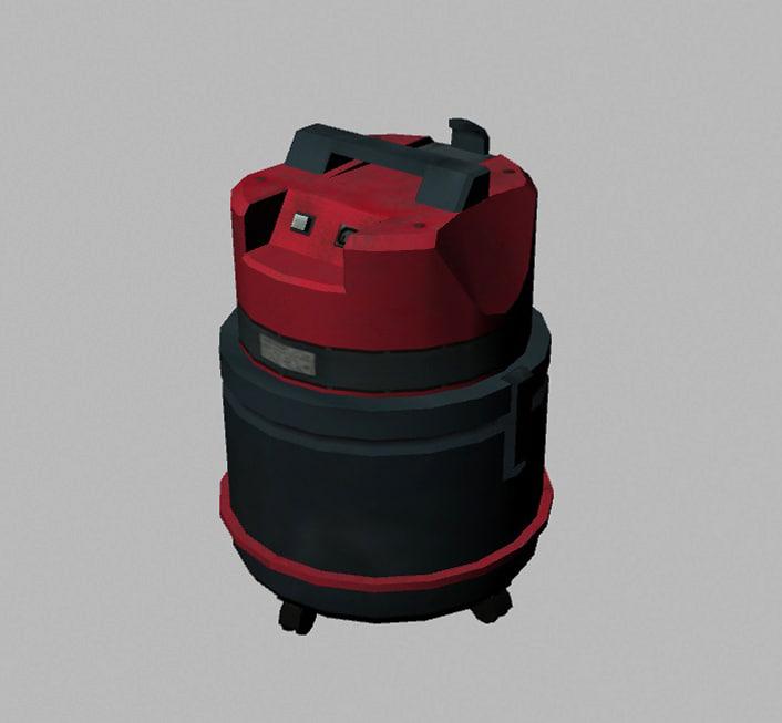 3d generic vacuum cleaner model