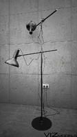 Black floor lamp (2 HEADED)
