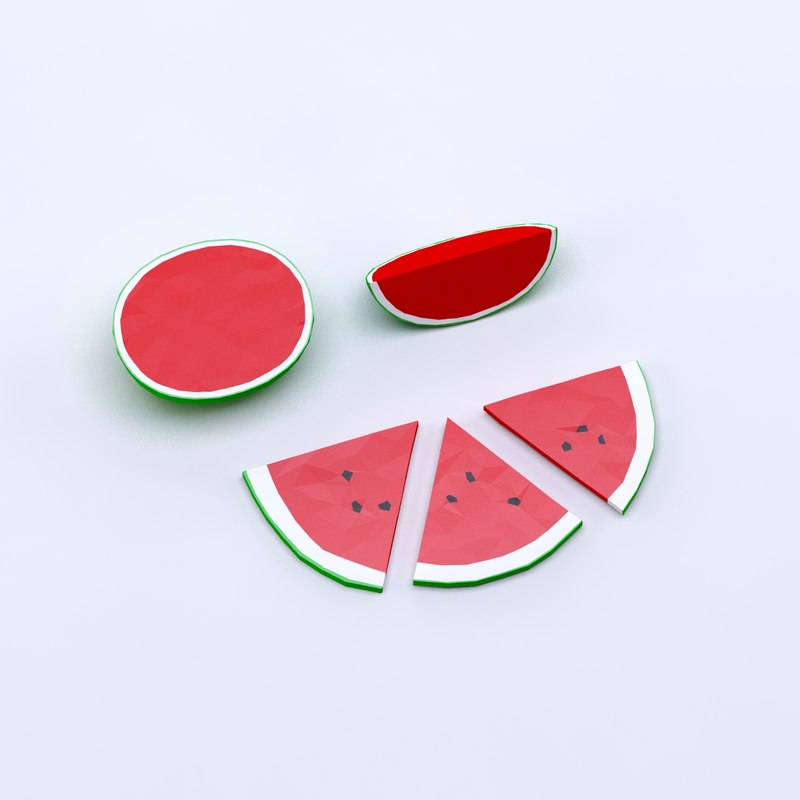 cartoon toon watermelon 3ds