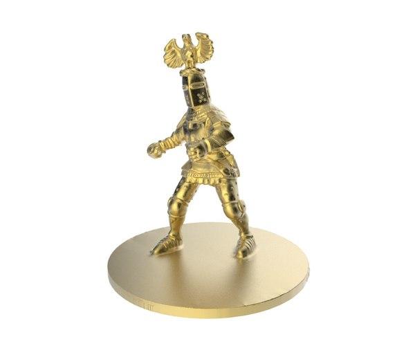 knight statue scan obj