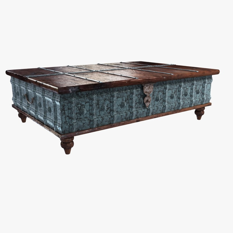 coffee table trunk 3d model