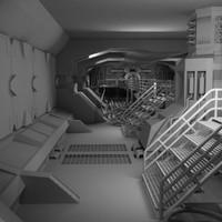 sci-fi interior 3ds