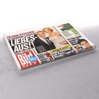 bild city newspaper folds 3d model