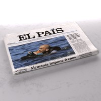 el pais newspaper folds 3d model