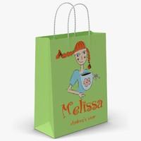 3d model of gift paper bag