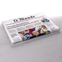 3d model le monde newspaper folds