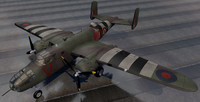 north american mitchell mk-2 3d model