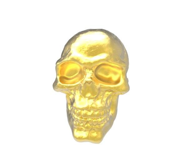 skull modified 3d model