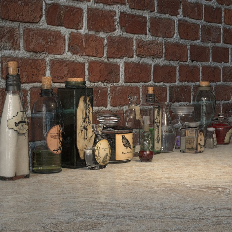 magic potions 3d model
