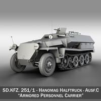 SD.KFZ 251/1 Ausf.C - Hanomag Halftruck