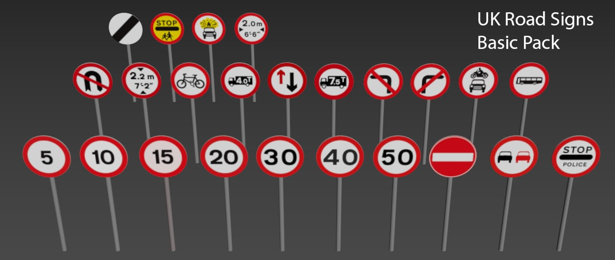 3d uk signs