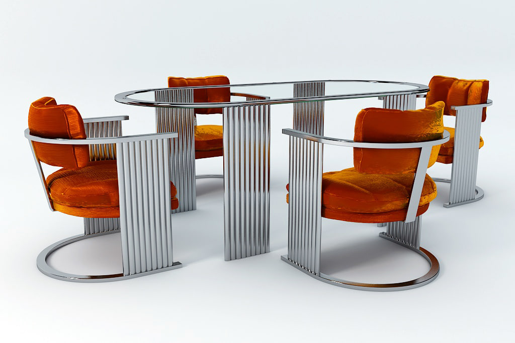 deco inspired dining set 3d max