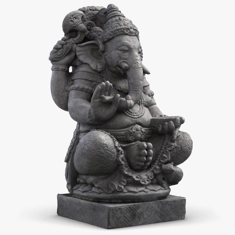 3d max ganesha statue