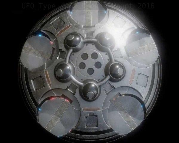 3d model ufo type 4