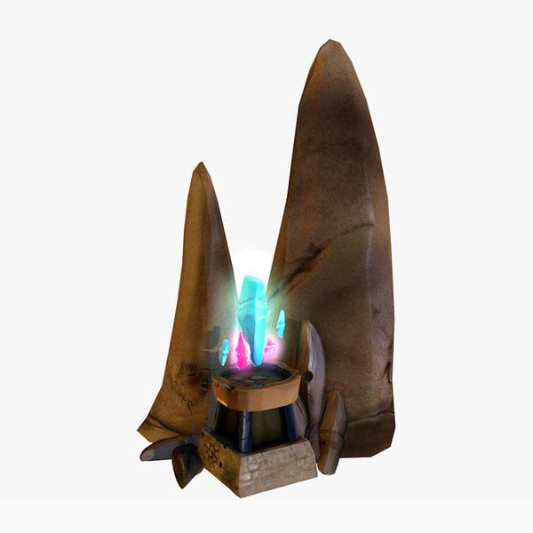 3d model crystal shrine