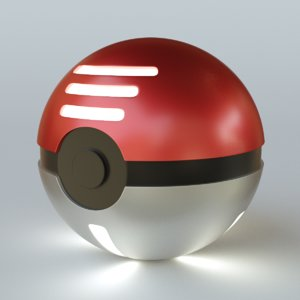 obj pokeball blender
