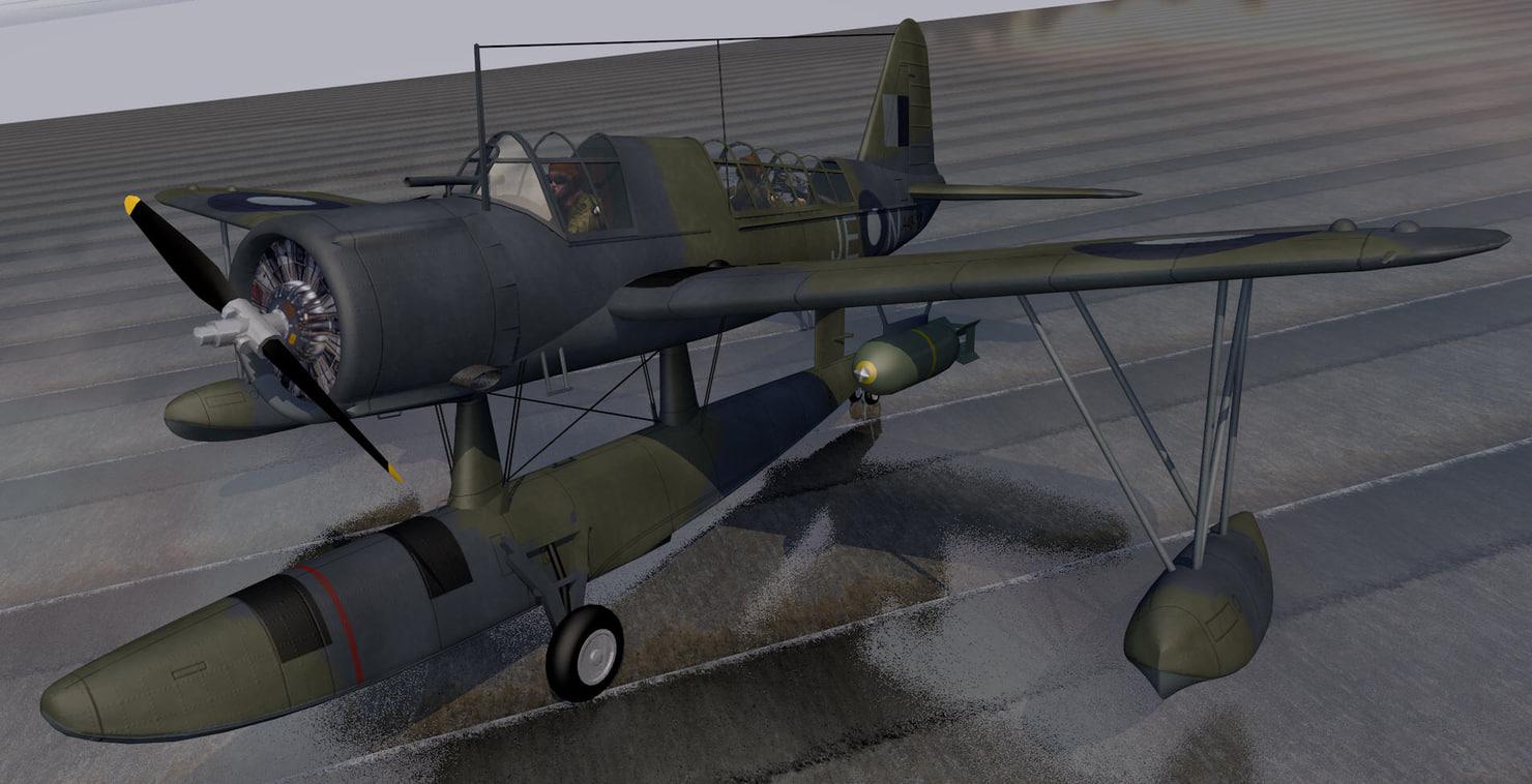 3d model vought kingfisher mk-1 raaf