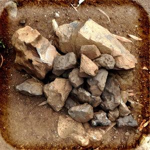 3d rock pile model