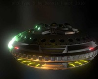 UFO Type 5 Animated and Game Ready