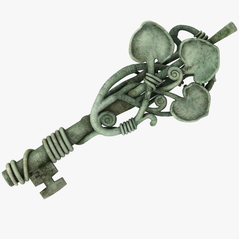 3d fantasy key model
