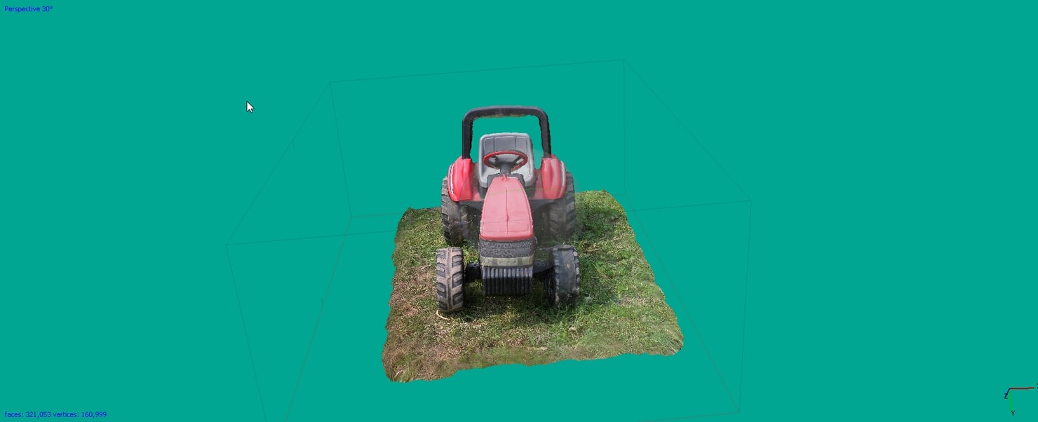 real tractor 3d model