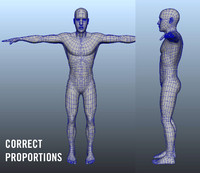 3d model simple human body