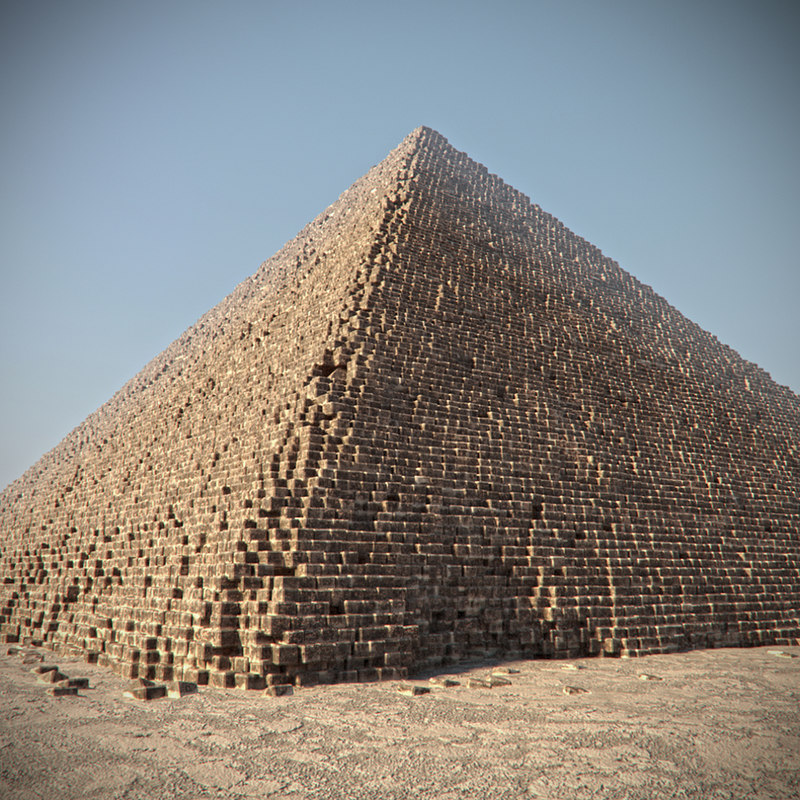 pyramid egypt giza 3d model