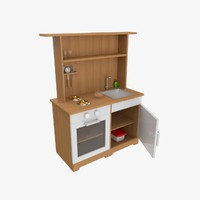 3d model toy kitchen