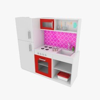 toy kitchen 3d obj