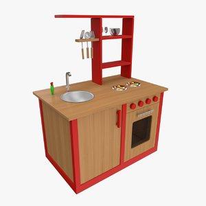 toy kitchen obj