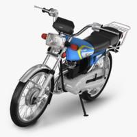 honda cg 125 motorcycle obj