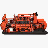 generator diesel 3d max