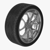 car tire rim 3d model