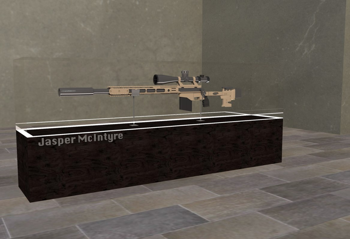 m40 rifle 3d obj