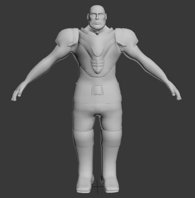 3d male character modeled polys