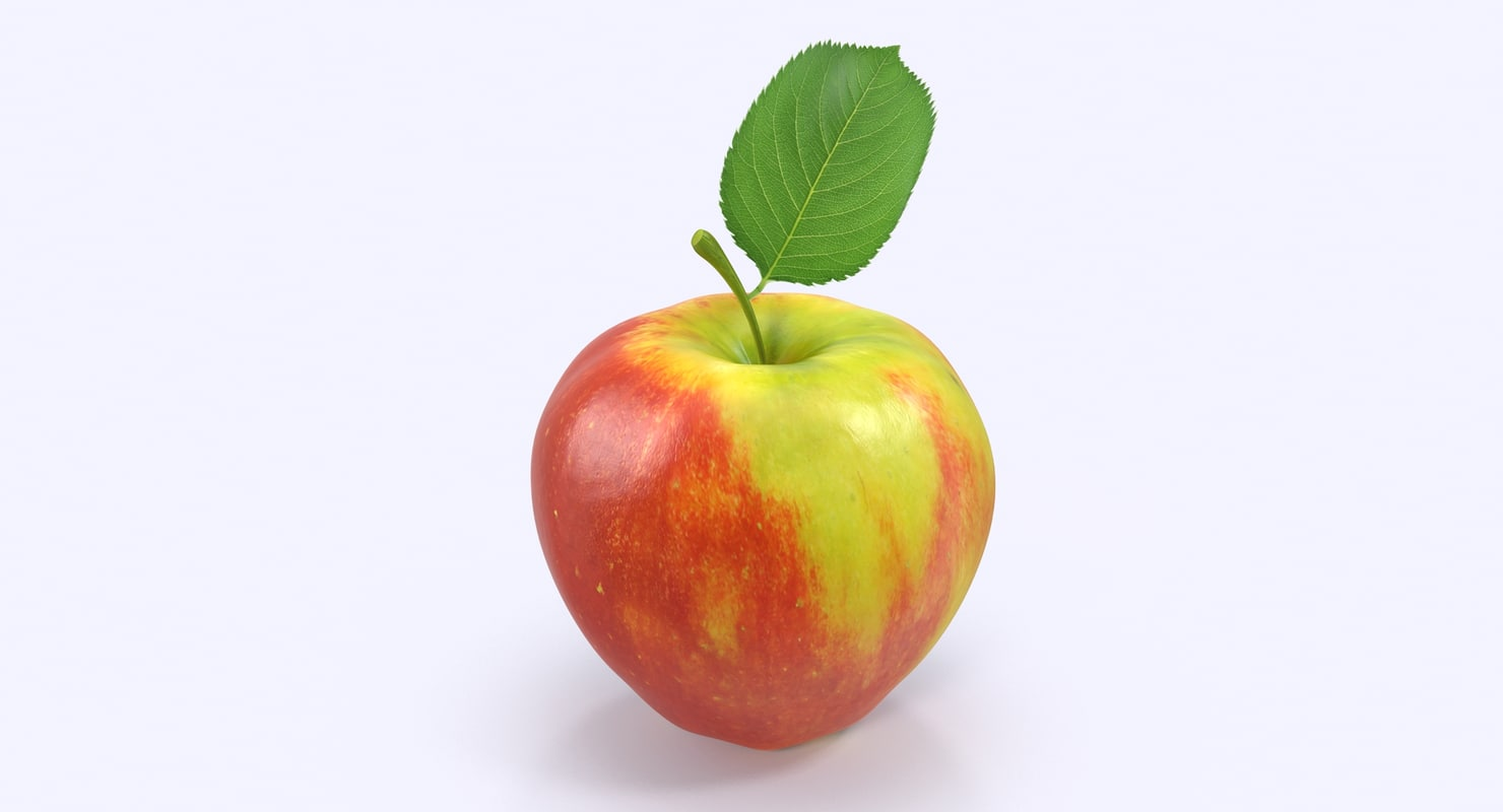 apple red yellow 3d model