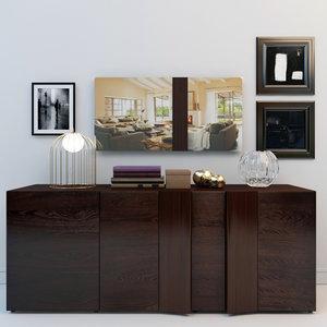 3d decorative set pedestal armonia