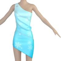 3d dress accessories model