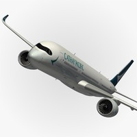 3d airbus cathay pacific model