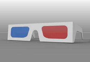 3d model vintage glasses
