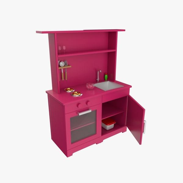 toy kitchen 3d 3ds