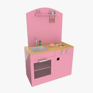 3d toy kitchen