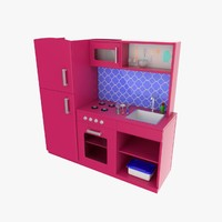 toy kitchen 3d model