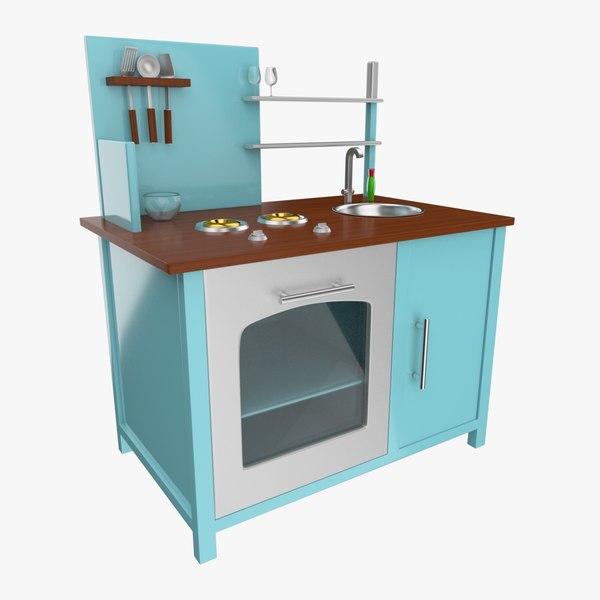 toy kitchen 3d model