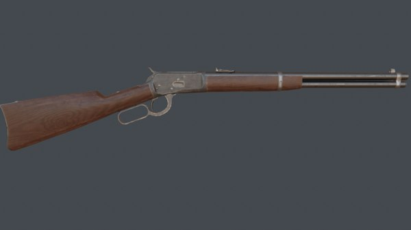 3d model of winchester 1892