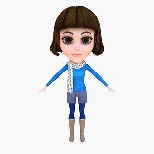 3d model lady pants boot