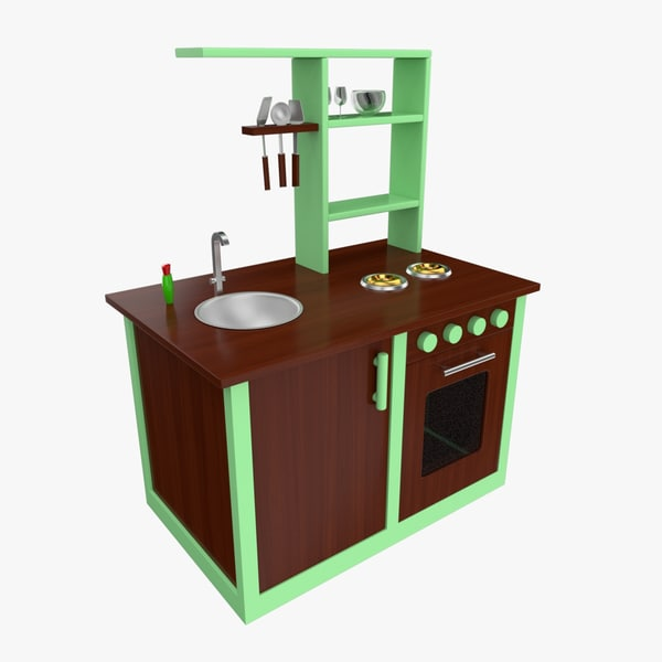 3d model toy kitchen