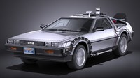 DeLorean DMC-12 Back To The Future episode 1 VRAY
